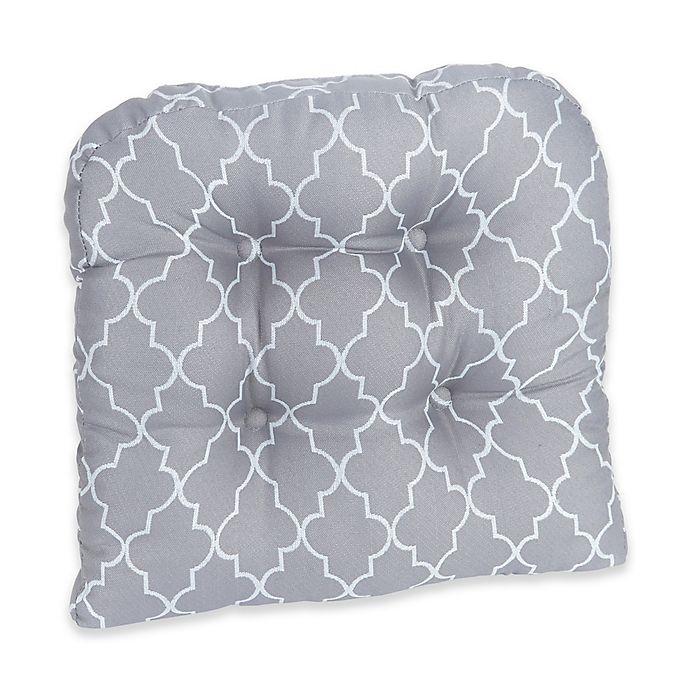 Alternate image 1 for Klear Vu Trellis Gripper® Chair Pad in Grey (Set of 2)