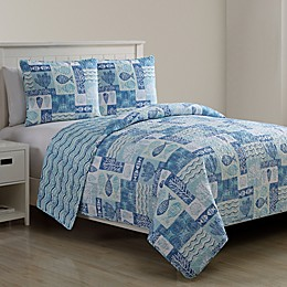 VCNY Home Patchwork Sea Life Quilt Set