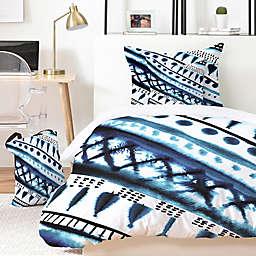 Deny Designs Indigo Stripe Duvet Set