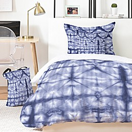 Deny Designs Tie Dye 2 4-Piece Twin/Twin XL Duvet Cover Set in Blue