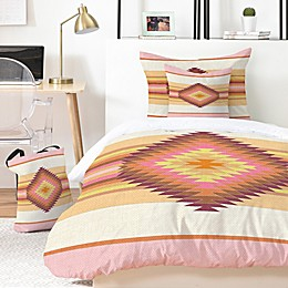 Deny Designs Fiesta Rose 4-Piece Twin/Twin XL Duvet Cover Set in Pink
