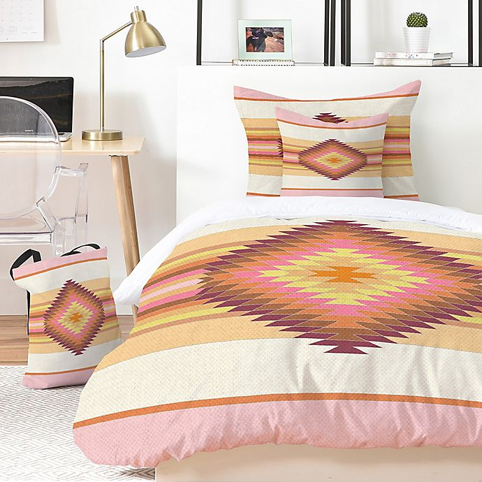 Alternate image 1 for Deny Designs Fiesta Rose 2-Piece Twin/Twin XL Duvet Set in Pink