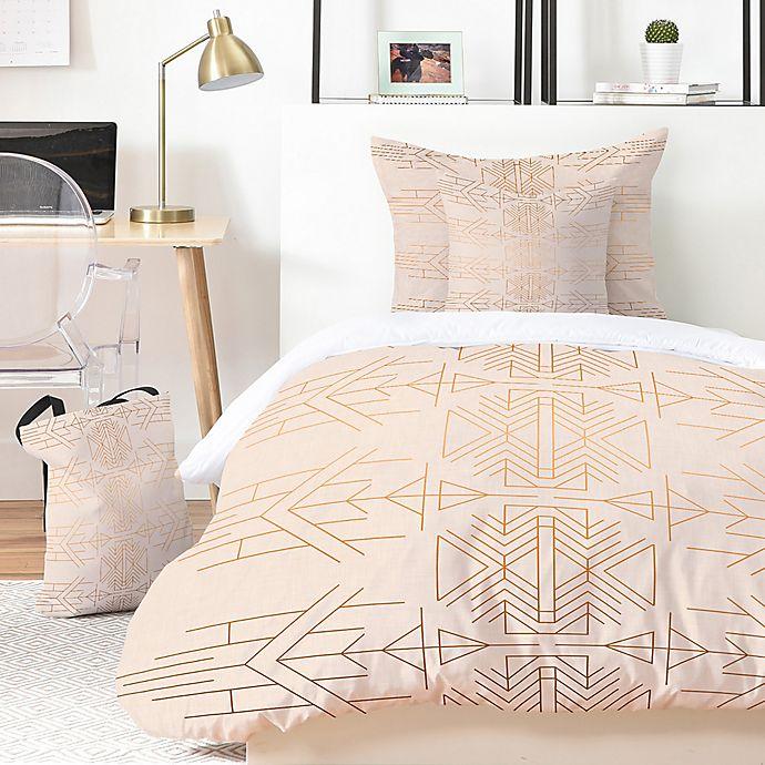 Alternate image 1 for Deny Designs Holli Zollinger Esprit 5-Piece Queen Duvet Cover Set in Gold/Pink