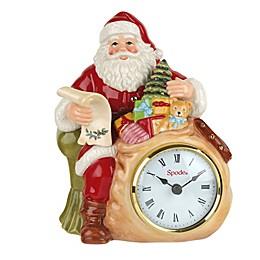 "Spode® Christmas Tree 8"" Santa Clock"