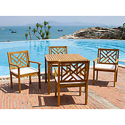 Safavieh Bradbury 5-Piece Outdoor Dining Set with Cushions