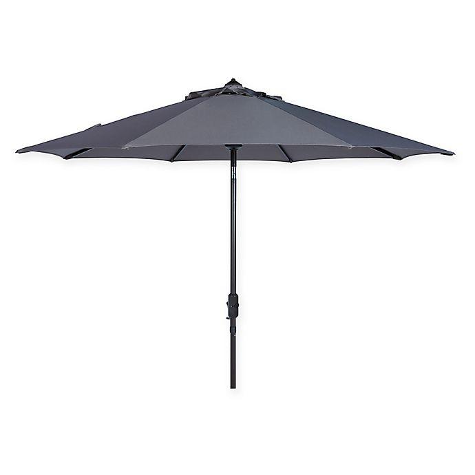 Alternate image 1 for Safavieh UV Resistant Ortega Auto 9-Foot Crank Umbrella