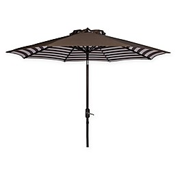 Safavieh UV Resistant Athens Inside Out Striped 9-Foot Crank Umbrella