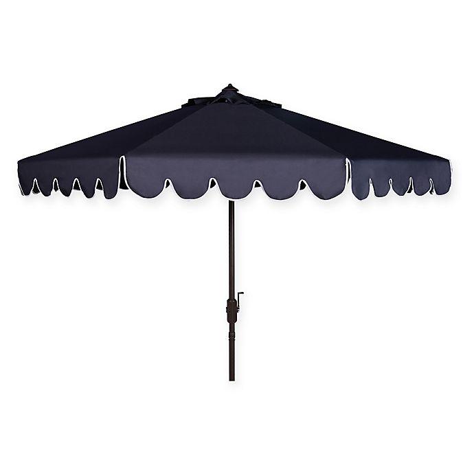 Alternate image 1 for Safavieh UV Resistant Venice Scallop 9-Foot Crank Umbrella