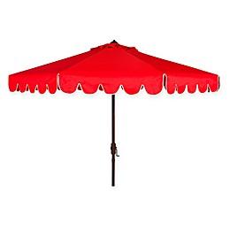 Safavieh UV Resistant Venice Scallop 9-Foot Crank Umbrella