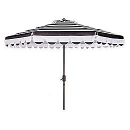 Safavieh UV Resistant Maui Scallop Striped 9-Foot Crank Umbrella