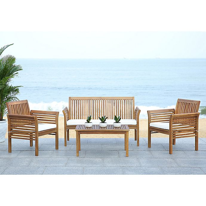 Safavieh Carson 4-Piece Outdoor Patio Conversation Set