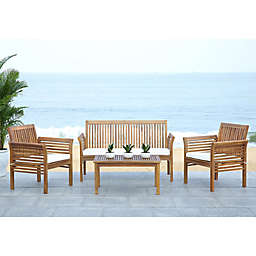 Safavieh Carson 4-Piece Outdoor Patio Conversation Set