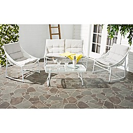 Safavieh Berkan 4-Piece Outdoor Furniture Set with Cushions