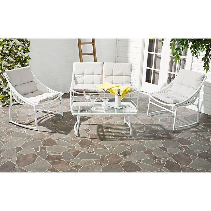 Safavieh Berkan 4 Piece Outdoor Furniture Set With Cushions Bed Bath Beyond