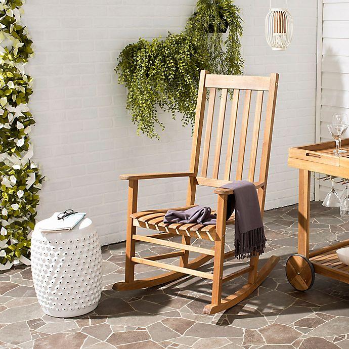 Outstanding Safavieh Shasta Outdoor Rocking Chair Bed Bath Beyond Andrewgaddart Wooden Chair Designs For Living Room Andrewgaddartcom