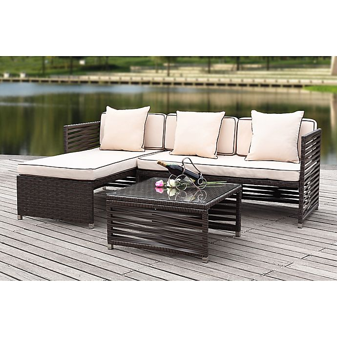 Safavieh Likoma 3-Piece Outdoor Furniture Set