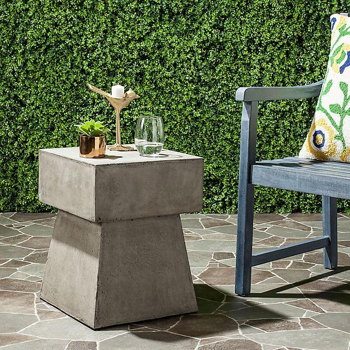 Astonishing Safavieh Zen Mushroom Concrete Accent Table Bed Bath Beyond Download Free Architecture Designs Crovemadebymaigaardcom