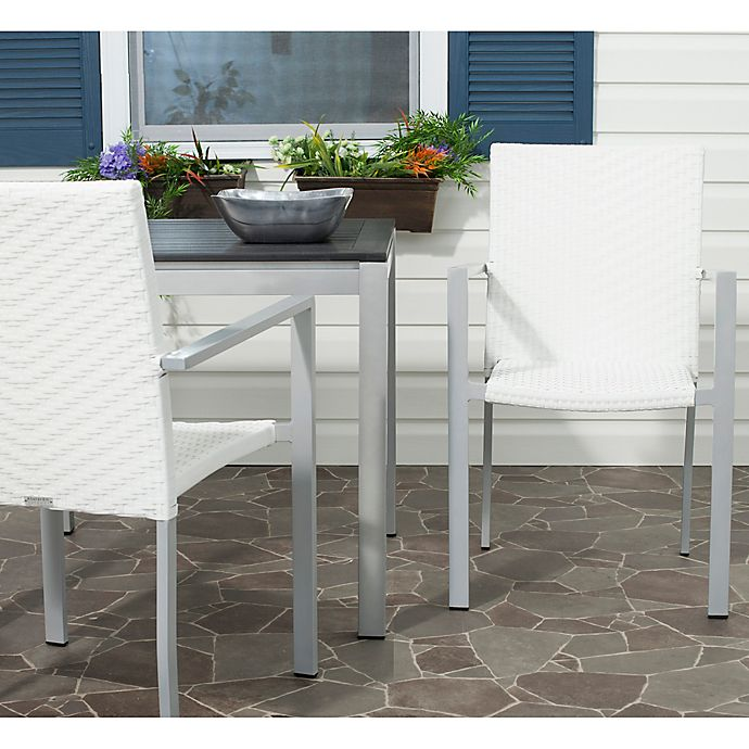 Alternate image 1 for Safavieh Cordova Stacking Armchairs in Off White (Set of 2)
