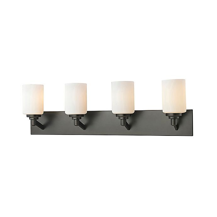 Alternate image 1 for Z-Lite Mattie 4-Light Wall Vanity in Coppery Bronze