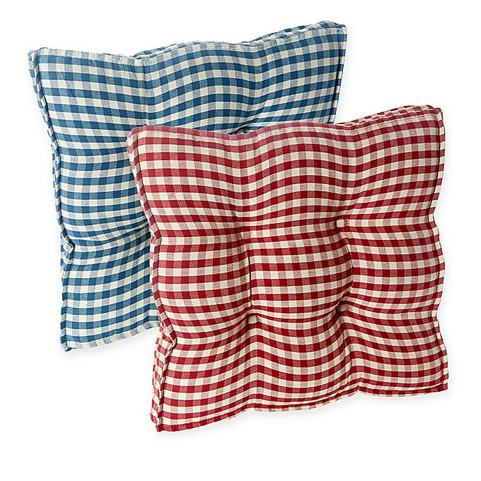 Klear Vu Gingham Square Universal Chair Pads With Grip Dot