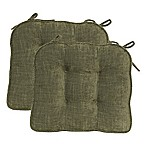 Jordan Boxed Edge Seat Cushion in Olive (Set of 2)