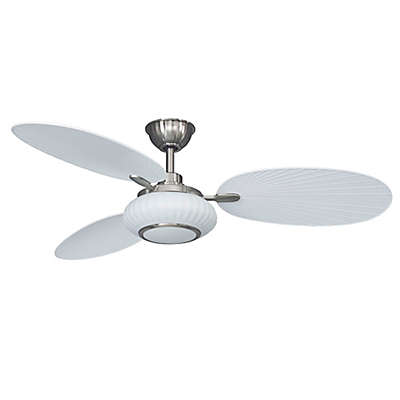Palma 56-Inch Single LED Light Indoor/Outdoor Ceiling Fan in in Matte White