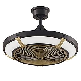 Pickett 24-Inch 3-Light LED Indoor/Outdoor Drum Ceiling Fan in Black