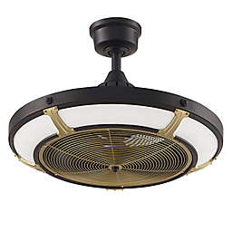 Pickett 24-Inch 3-Light LED Indoor/Outdoor Drum Ceiling Fan in Black