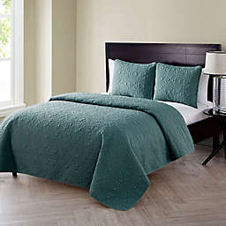VCNY Home Caroline Embossed 3-Piece Full/Queen Quilt Set in Sage
