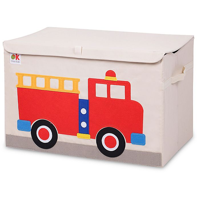 Alternate image 1 for Olive Kids Fire Truck Toy Chest