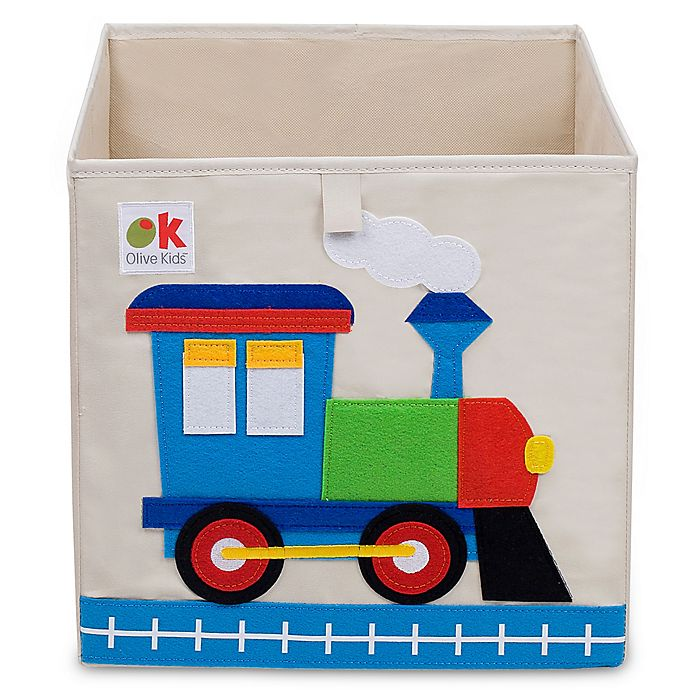 Alternate image 1 for Olive Kids Train Storage Cube