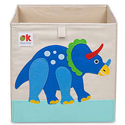 Olive Kids Dinosaur Land Storage Cube in Tan