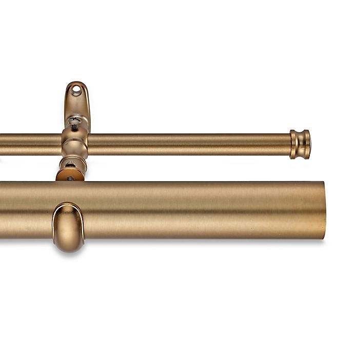 Alternate image 1 for Cambria® Estate 162-Inch Double Curtain Rod in Warm Gold