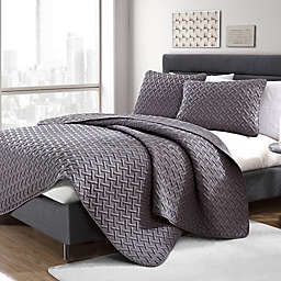 VCNY Home Nia Embossed 3-Piece Quilt Set