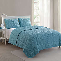 VCNY Home Shore 3-Piece King Quilt Set in Blue
