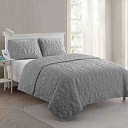 VCNY Home Shore 3-Piece King Quilt Set in Grey