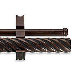 Cambria® Estate Wood 36-Inch Double Twisted Curtain Rod in Chocolate