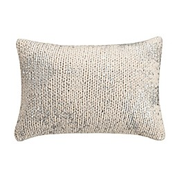 KAS Eden Knit Oblong Throw Pillow in Ivory