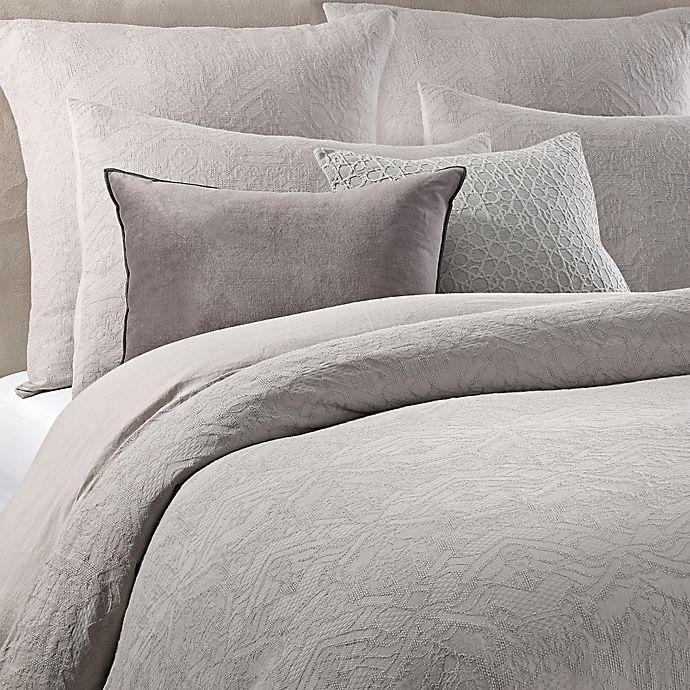 Alternate image 1 for Wamsutta® Vintage Textured Jacquard Duvet Cover in Grey