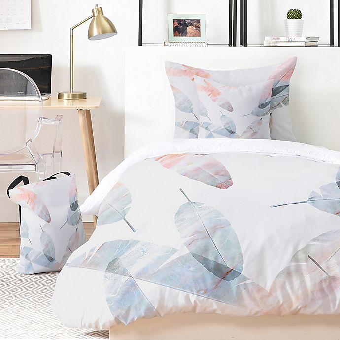Alternate image 1 for Deny Designs Iveta Abolina Coral Shoreline 5-Piece Queen Duvet Cover Set in Pink