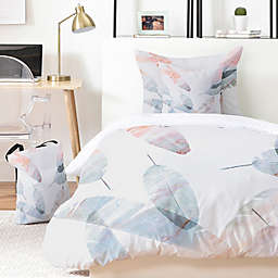 Deny Designs Coral Shoreline 4-Piece Twin/Twin XL Duvet Cover Set in Pink