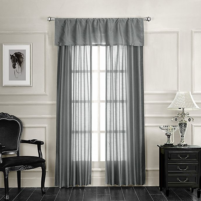Alternate image 1 for Monique 84-Inch Rod Pocket Window Curtain Panel Pair in Silver