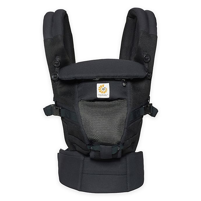 Alternate image 1 for Ergobaby™ Adapt Cool Air Mesh Newborn to Toddler Baby Carrier in Onyx Black