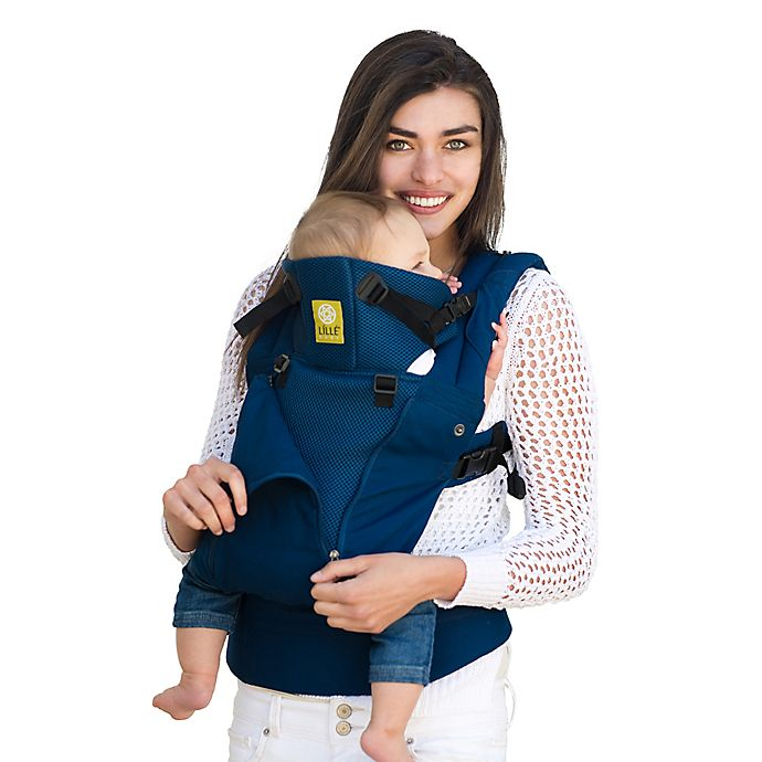 Alternate image 1 for lillebaby® COMPLETE™ ALL SEASONS Baby Carrier in Navy