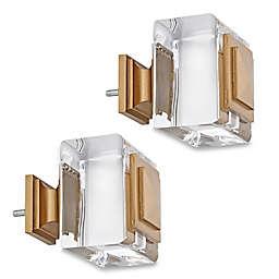 Cambria® Estate Normandy Square Finials in Warm Gold (Set of 2)