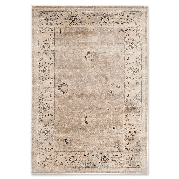 Alternate image 1 for Safavieh Vintage Mercedes Floral 3-Foot 3-Inch x 5-Foot 3-Inch Area Rug in Light Grey/Ivory