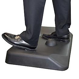 Uncaged Ergonomics Contoured Anti-Fatigue Standing Desk Mat in Black