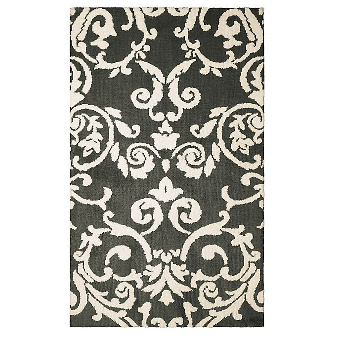 Alternate image 1 for Laura Ashley® Halstead Knit 8-Foot x 11-Foot Area Rug in Grey