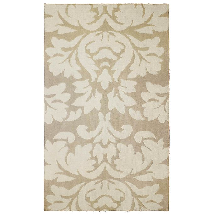 Alternate image 1 for Laura Ashley® Kent Knit 4-Foot x 6-Foot Area Rug in Taupe