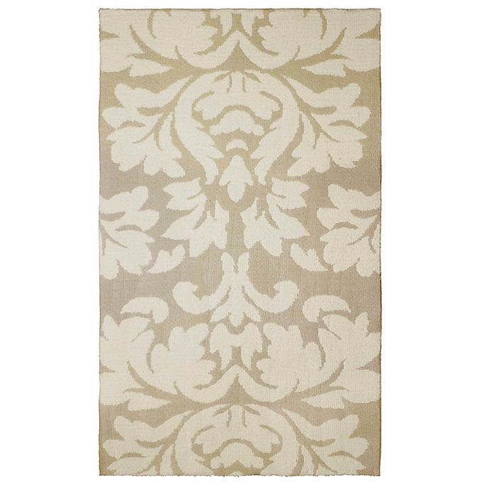 Alternate image 1 for Laura Ashley® Kent Knit 5-Foot x 8-Foot Area Rug in Taupe